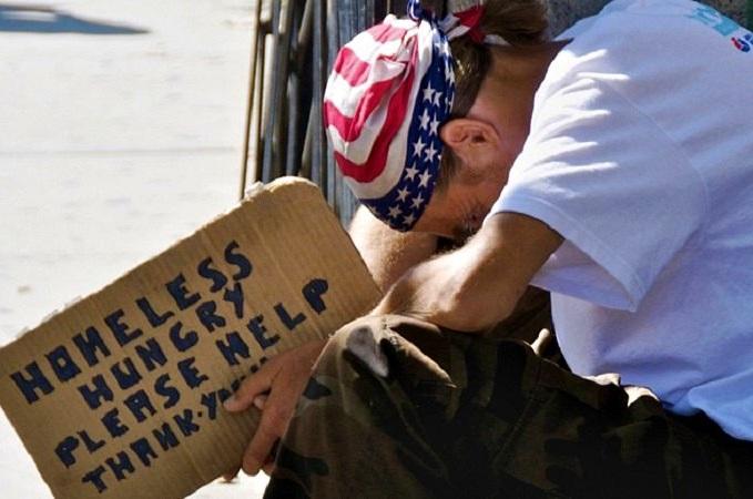 Проблема большого числа бездомных остро стоит в США